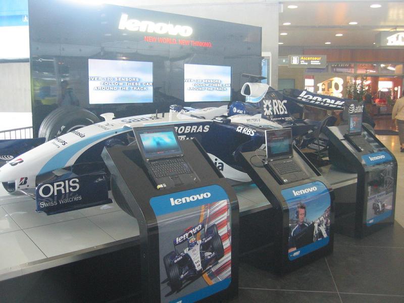 Lenovo utilise les aéroports pour sa promotion
