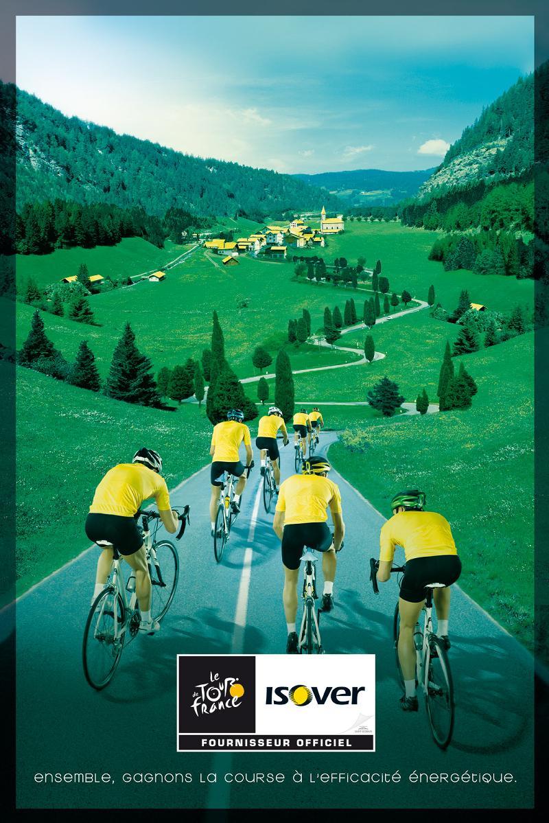 Isover fête ses 70 ans en fanfare en participant au Tour de France