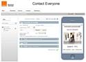 Interface de création de site mobile avec écran de prévisualisation intégrée