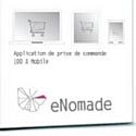 eNomade permet aux vendeurs nomades de prendre des commandes de n'importe où sur le terrain.