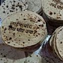 Unilever a imprimé son message publicitaire sur des chapatis.
