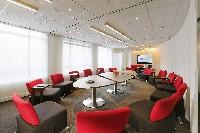 Les nouvelle salles de réunion de Novotel sont entièrement modulables, grâce à un mobilier sur roulettes.