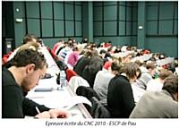 Épreuve écrite du CNC 2010, à l'ESCP de Pau.