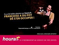 Houra.fr affiche une commerciale dans le métro