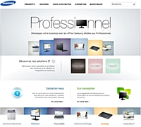 Samsung lifte ses sites web pros