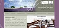 """La page d'accueil du site """"Séminaire en Provence-Côte d'Azur"""" par Symboles de France."""