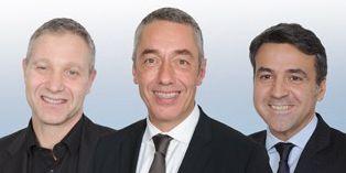 Guillaume Girard-Reydet (Ricard) au centre, Jean-Loup Savigny (Arval), à droite de la photo et Patrick Krawczyk (PagesJaunes).