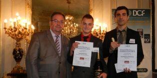 Les lauréats avec Jacques Benn, président des DCF (à gauche).