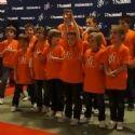 GFI Informatique a invité quatorze enfants de commerciaux et clients privilégiés à rencontrer les joueurs du PSG Handball et à assister à un match.