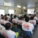 Un groupe de travail durant la journée mondiale de la santé et de la sécurité de Bouygues Travaux Publics.