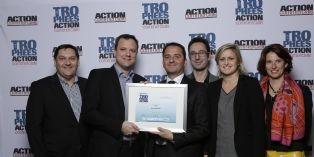 CAA avec son client Les Grands Moulins de Paris lors des Trophées Action Commerciale 2014