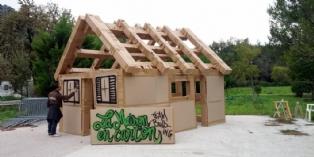 Team building : maisons éphémères en Provence