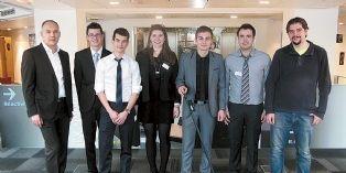 Le projet Handisco, porté par cinq élèves de l'École supérieure des sciences et des technologies de l'ingénieur, avec des commerciaux de Cisco faisant office de parrains.