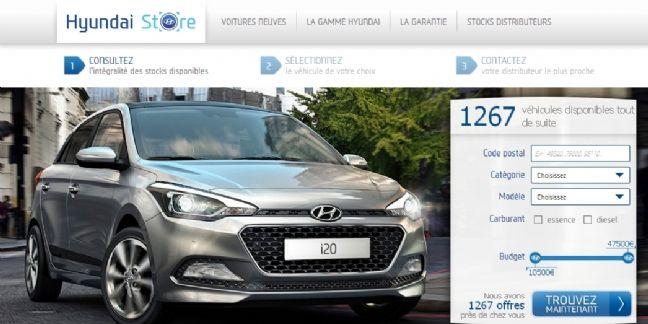 Hyundai teste le Web to store