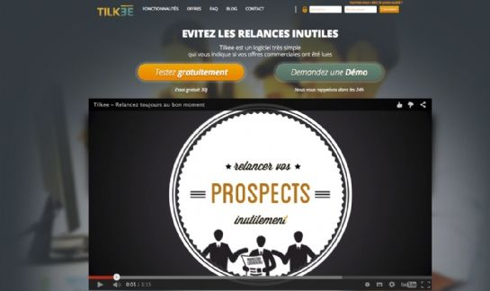 Tilkee, un logiciel qui permet d'optimiser les relances commerciales