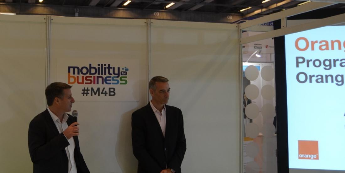 David Buis, responsable du programme Mobile Business Apps (à gauche), et Serge Schertzer, responsable du recrutement éditeurs Orange Business Services