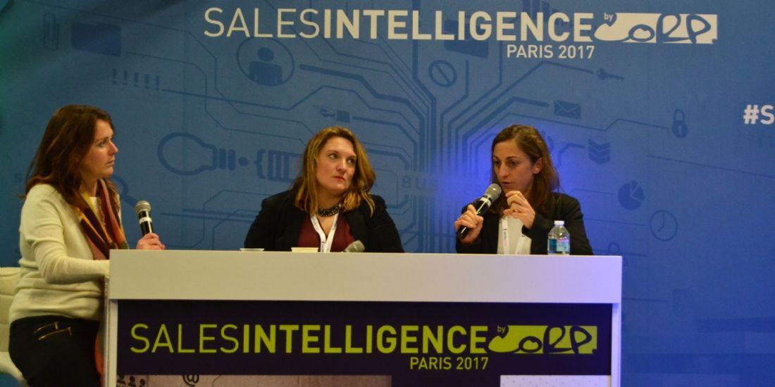 Sonia Morand de Toshiba (au centre) et Magali Regnault d'Econocom (à droite)