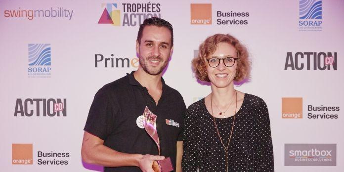 Sylvain Tillon (Tilkee) avec son client EDF