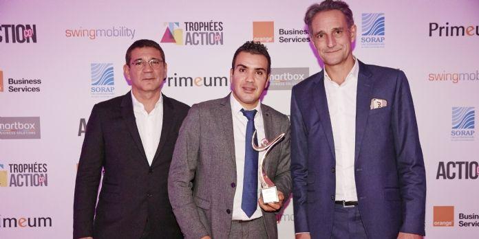 François Guy (Orange Business Services), Amar Hachi, et Hervé Lenglart (pdg d'Editialis, auquel appartient Action Co)