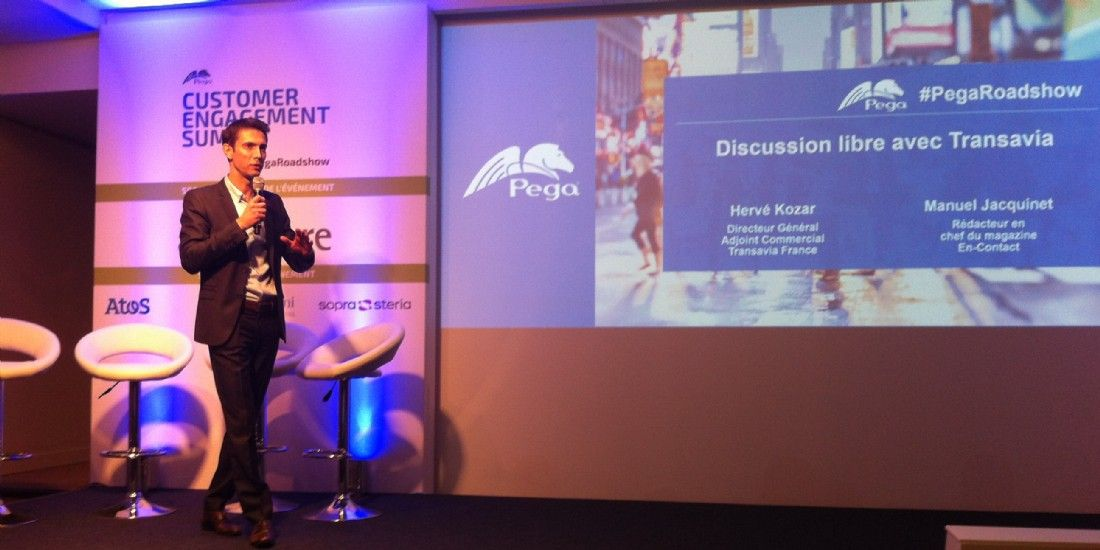 Hervé Kozar, directeur général adjoint commercial de Transavia France, à l'occasion du Customer Engagement Summit de Pegasystems.