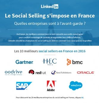Le Top 10 des entreprises à la pointe du social selling en France
