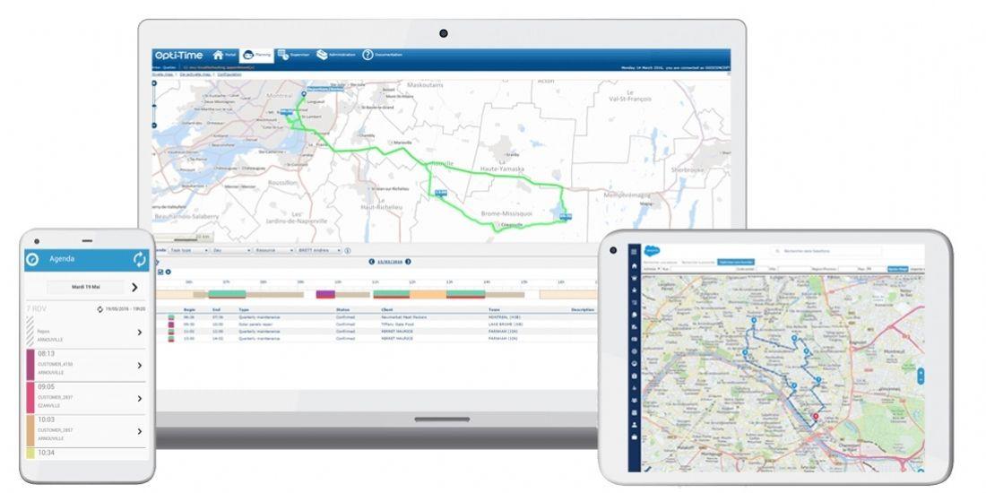 Avec Opti-Time Cloud 3, Geoconcept optimise ses solutions d'organisation de tournées commerciales