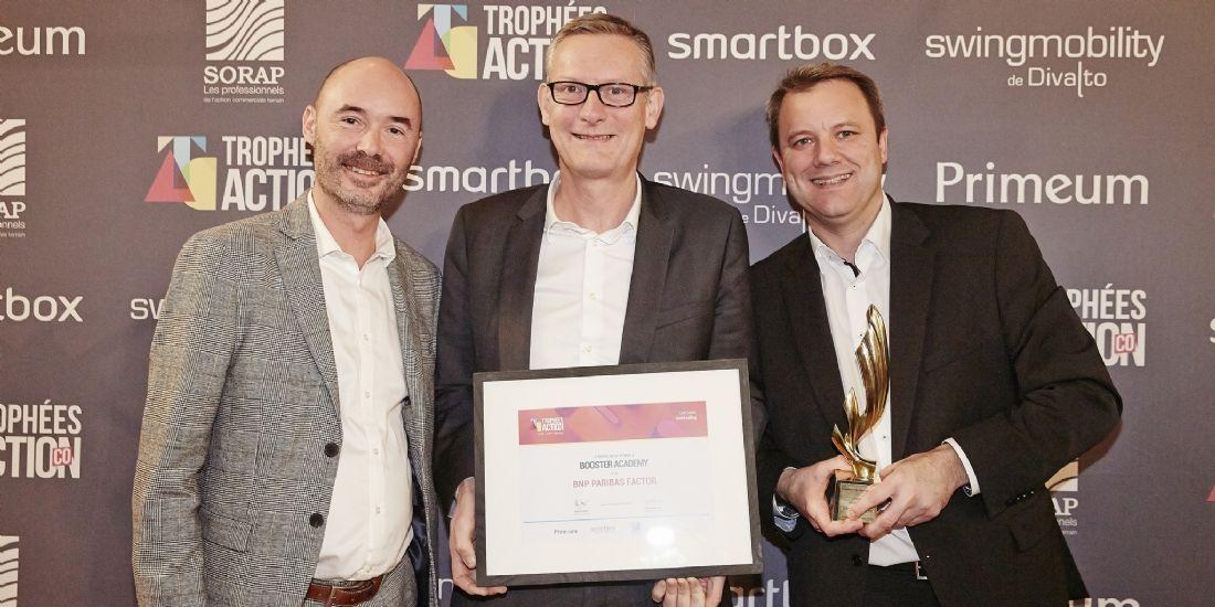 [Trophées ActionCo 2018] Booster Academy gagne l'or en Social Selling grâce au projet BNP Paribas Factor