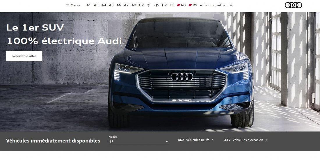 Audi France se lance dans l'e-commerce