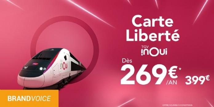 Offre Carte Liberté TGV INOUI